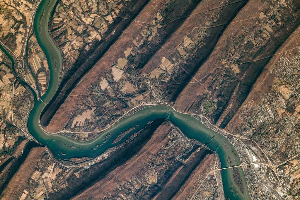 La rivière Susquehanna dans les Appalaches, 2019. © Nasa Earth Observatory