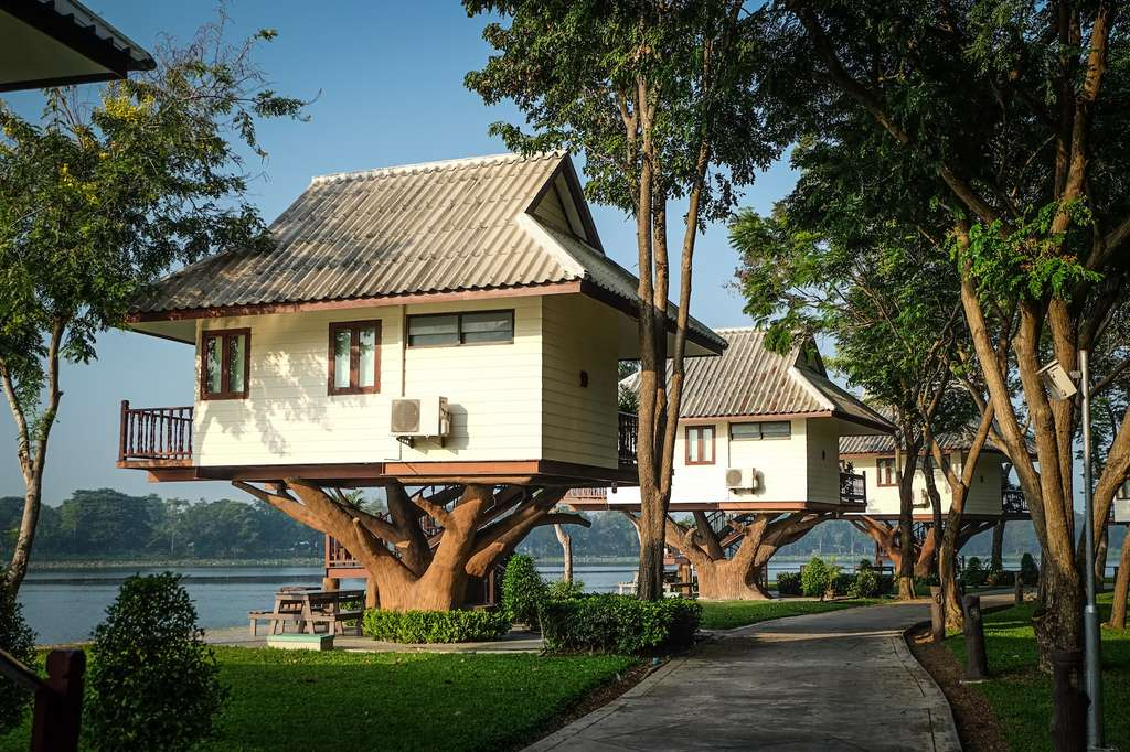 Un hôtel dans les arbres, en Thaïlande