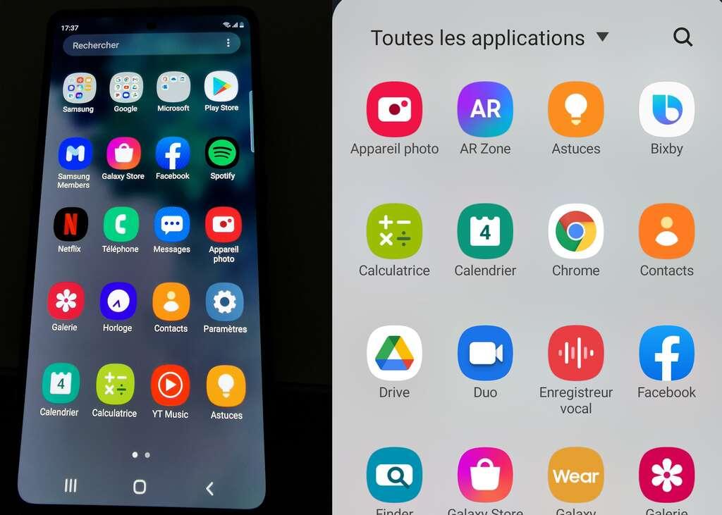 Sur la droite de l'écran, un raccourci discret mais rapide vers les applications les plus utilisées. On peut en personnaliser l'accès. © Futura