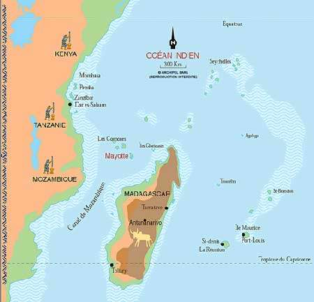 Situation géographique de Mayotte
