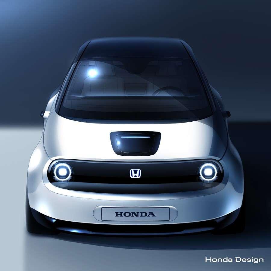 Une esquisse du prototype Urban EV qu'Honda présentera au salon de Genève le mois prochain. © Honda