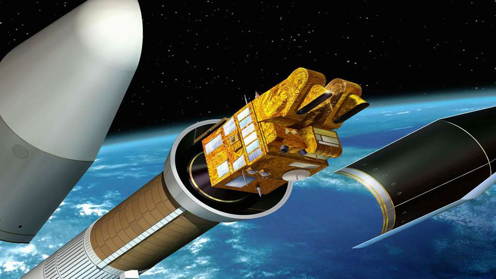 Le satellite Spot 5 se sépare du lanceur Ariane 4
