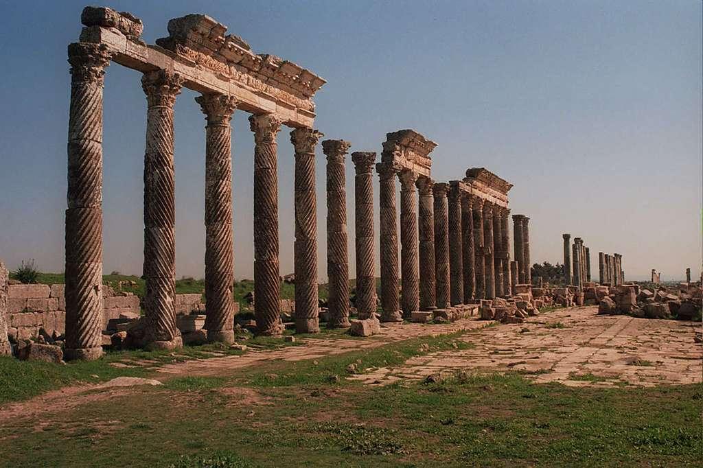 Les grandes colonnes d'Apamée. © Loris Romito, Wikimedia commons, CC 3.0