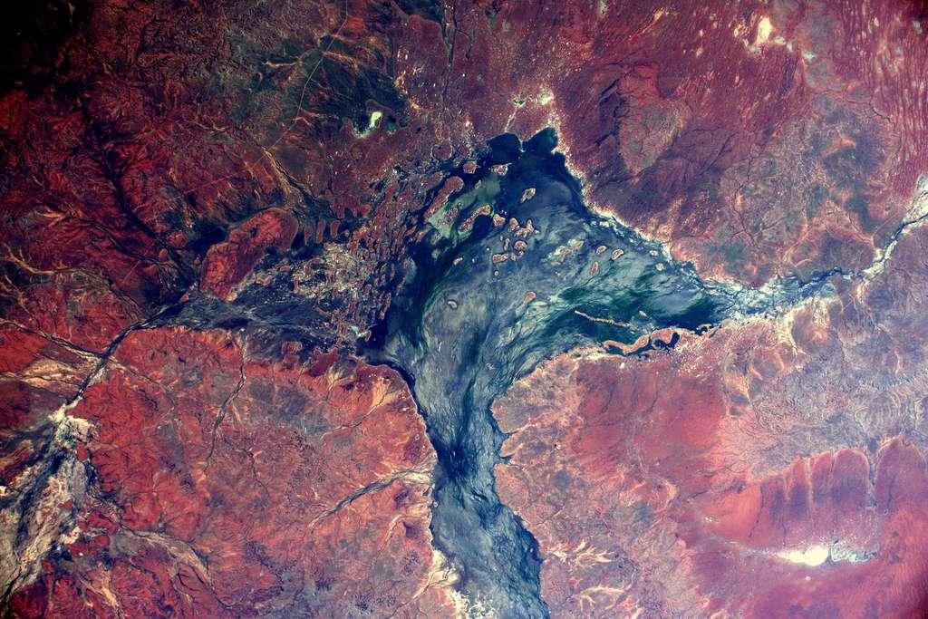 La brousse australienne photographiée d'ISS par Thomas Pesquet. © ESA, Nasa