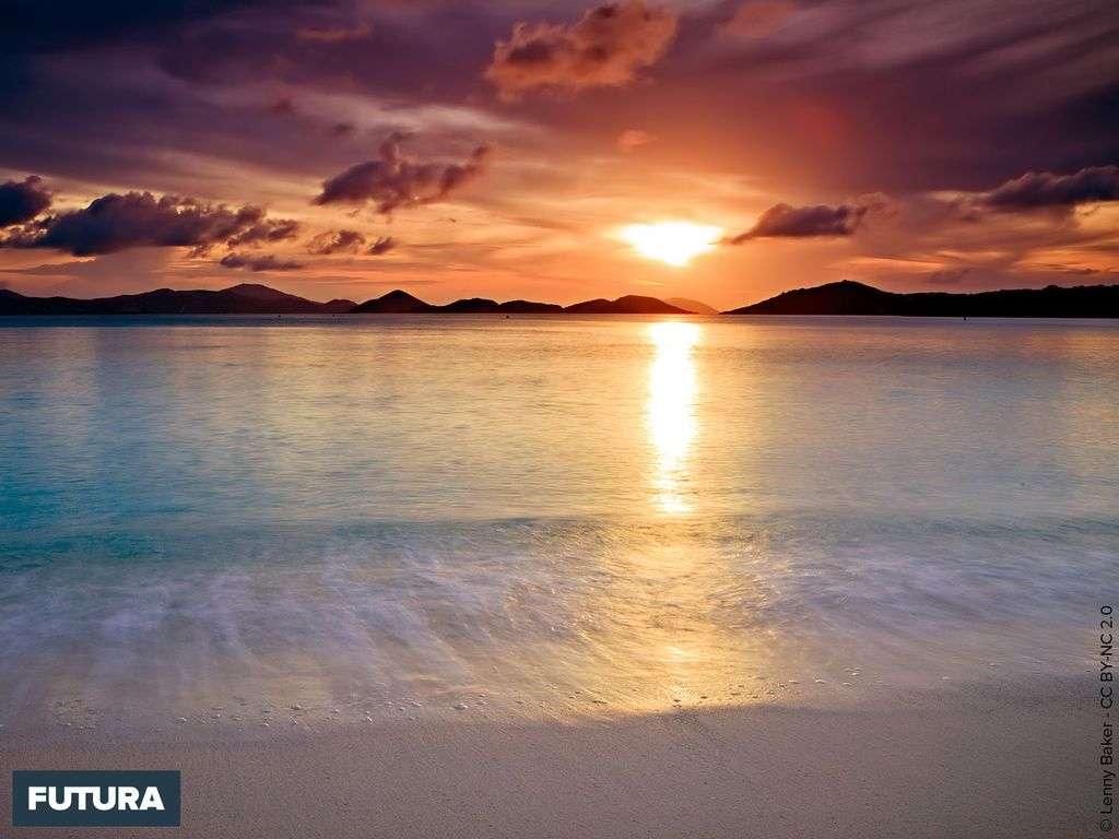 Coucher de soleil sur Scotch Beach