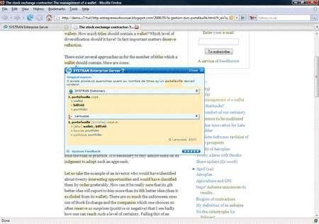 Un écran utilisé pour éditer les traductions connues et enrichir manuellement la base de données. © Systran