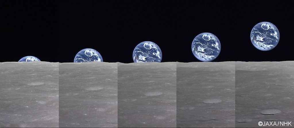 Lever de Terre vu du pôle sud de la Lune
