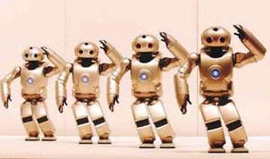 Après les premiers robots, apparaissent les robots humanoïdes. © Robot SDR-4X, Sony