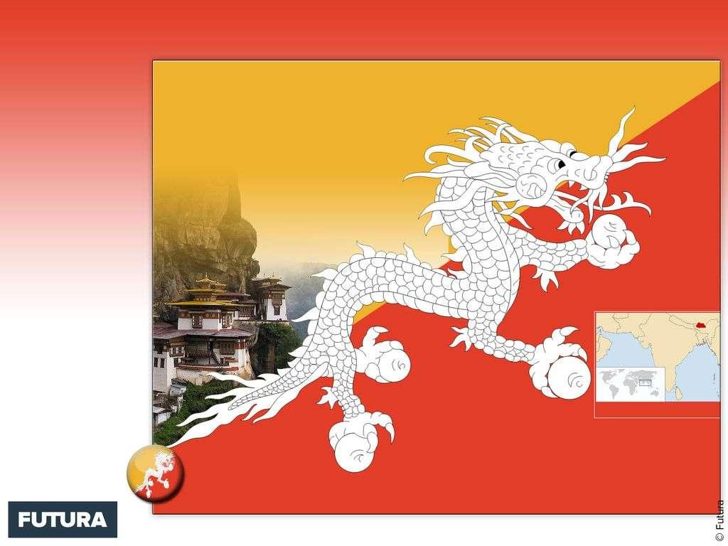 Drapeau : Bhoutan