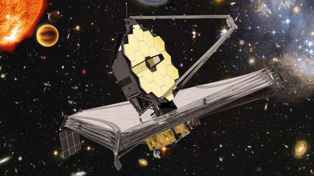 Représentation du James Webb Space Telescope. © ESA