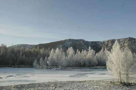 Paysage aux environs de Kyzyl © Thierry Malty - Toute reproduction interdite.