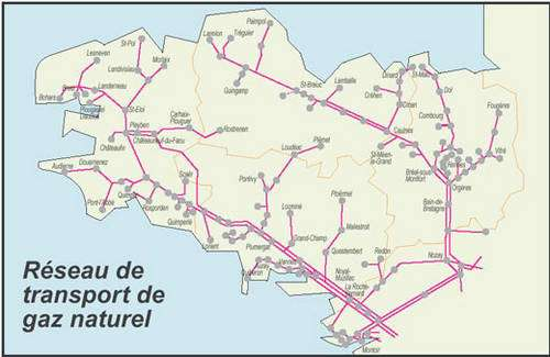 Carte en provenance de DRIRE Bretagne