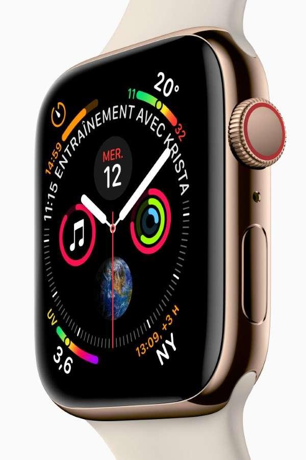 Le grand classique de la smartwatch reste la coûteuse Apple Watch. Malheureusement, elle ne fonctionne qu'avec l'iPhone. © Apple