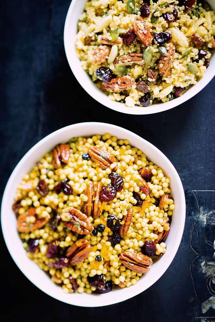Salade de couscous géant aux canneberges et noix de pécan © Amélie Roche, tous droits réservés