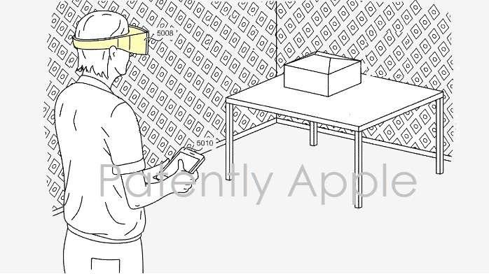 L'iPhone ne viendra pas se placer dans le casque mais servira de contrôleur sans fil © Patently Apple