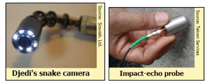 Exemple d'instruments qu'il est possible d'équiper sur le robot Djedi. © DR