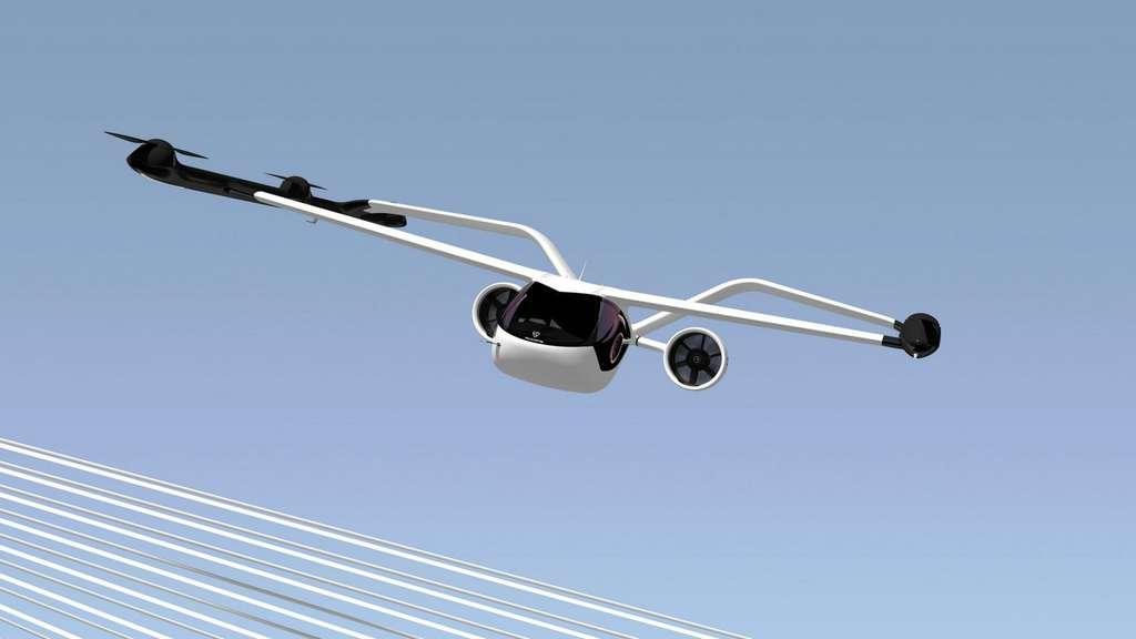 Le VoloConnect est muni d'un train d'atterrissage rentrant. © Volocopter