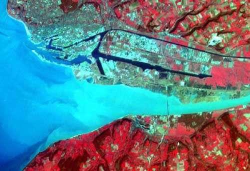 L'estuaire vu de l'espace