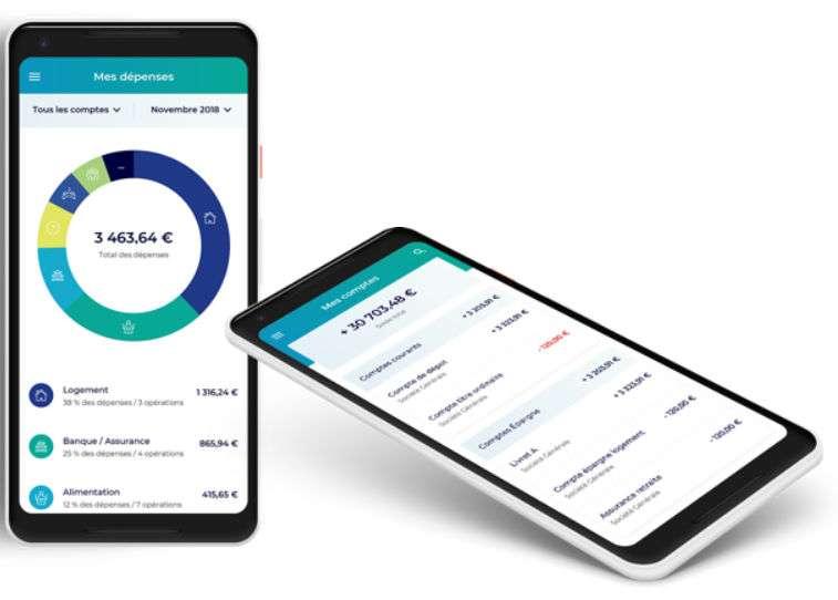 Synchronisez tous vos comptes bancaires en un seul endroit avec l'appli mises à votre disposition. © Hubside