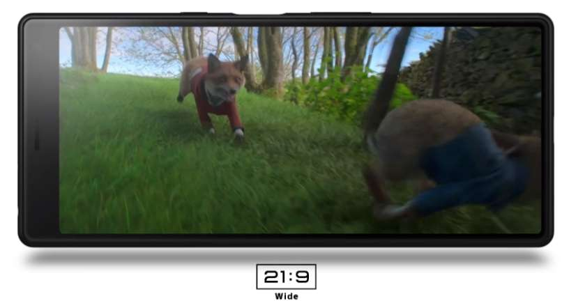 Le format du mobile est taillé pour diffuser des vidéos au format 21:9. Mais est-ce que l'on choisit véritablement un smartphone pour regarder des films ? © Sony