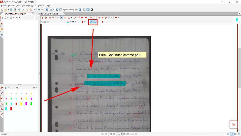 Surligner du texte avec PDF Annotator © GRAHL software design