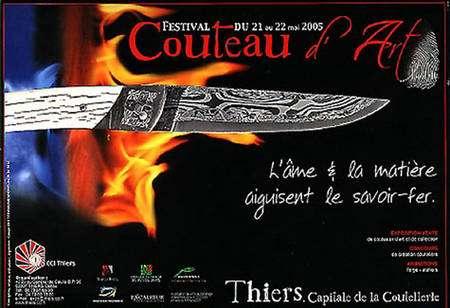 Affiche du festival du couteau d'art à Thiers en 2005