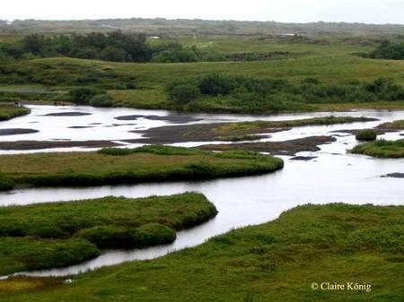 La rivière à Thingvellir. © Claire König
