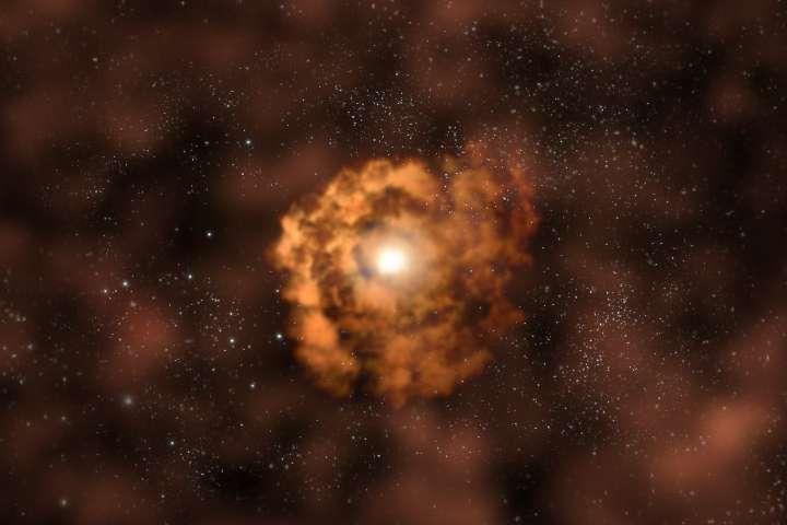 Éruption d'un trou noir supermassif 2/4