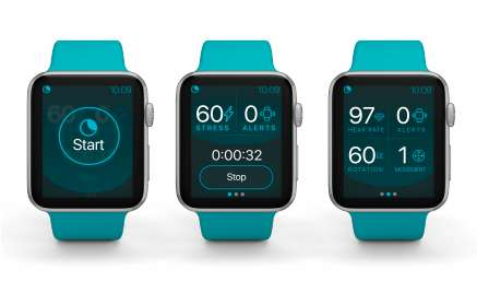 Voici comment se présente l'application bientôt disponible pour Apple Watch. © NightWare