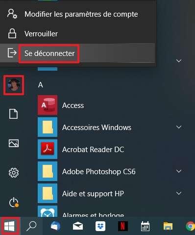 Déconnectez-vous de votre session. © Microsoft