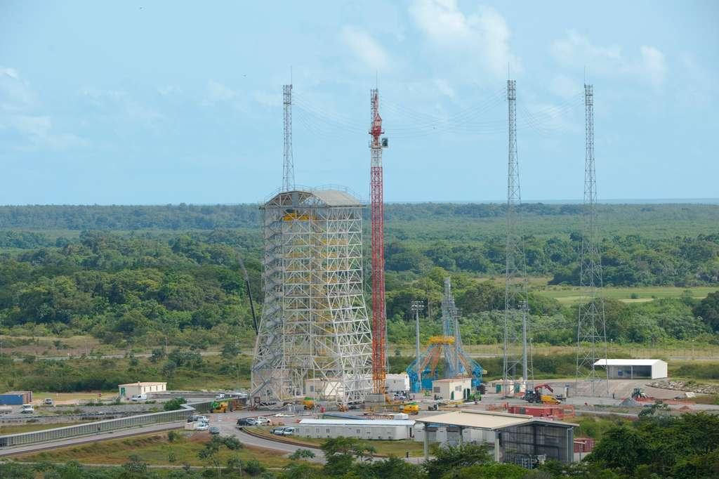 Le portique de Soyuz en Guyane