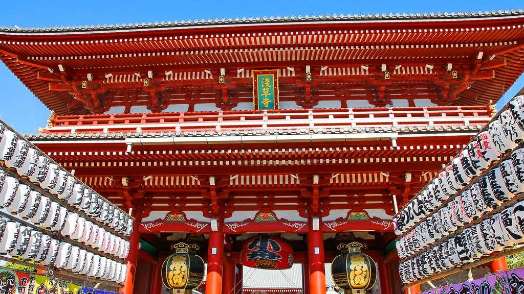 Le temple Senso-ji, à Asakusa