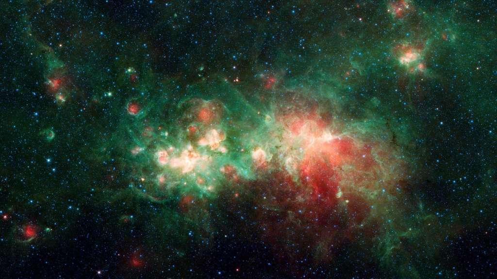 Nébuleuse Star Factory W51. © Nasa, JPL-Caltech, Wikimedia commons, DP