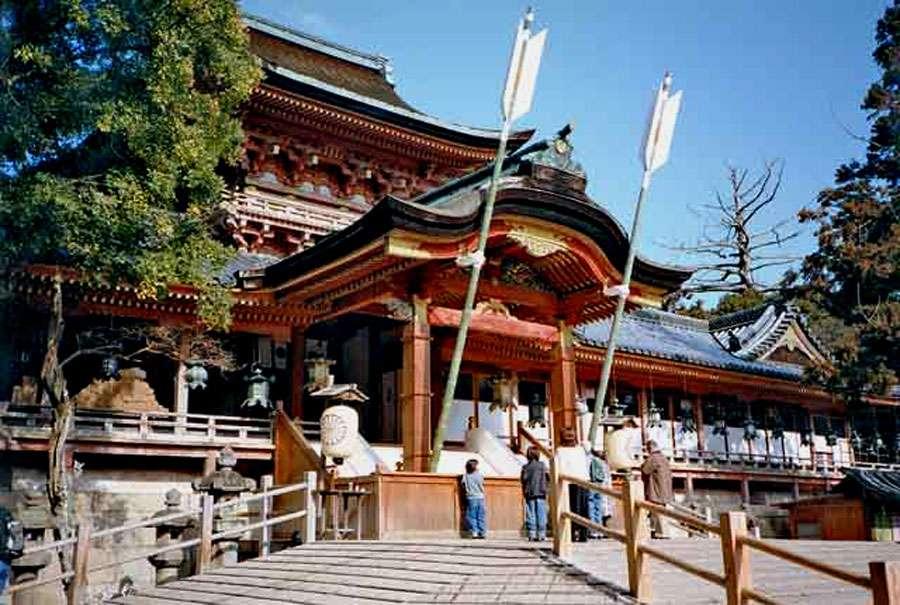 Le sanctuaire shintoïste d'Iwashimizu Hachiman, dans la préfecture de Kyoto. © Fg2, Wikimedia Commons, DP