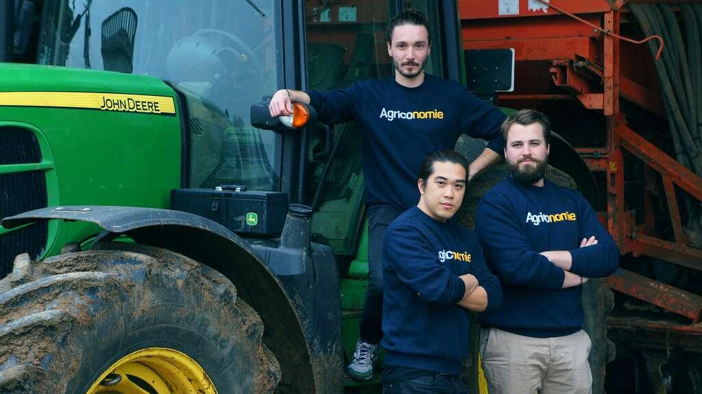 Les 3 fondateurs sont fils ou petits-fils d'agriculteurs. © Agriconomie