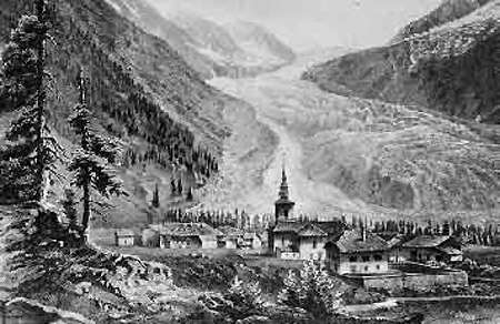 Argentière en 1860.