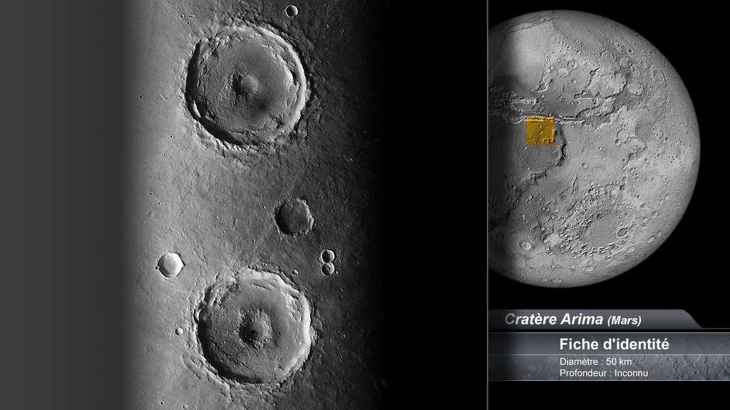 Le cratère Arima sur Mars
