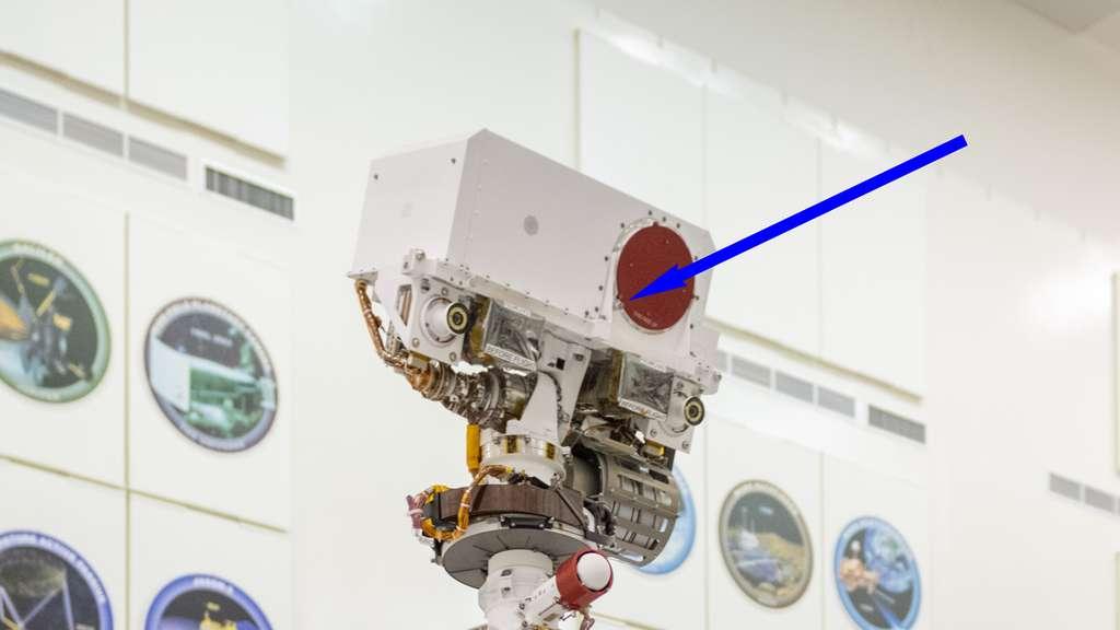 Le microphone de l'Isae-Supaéro installé sur SuperCam. © Nasa, JPL-Caltech