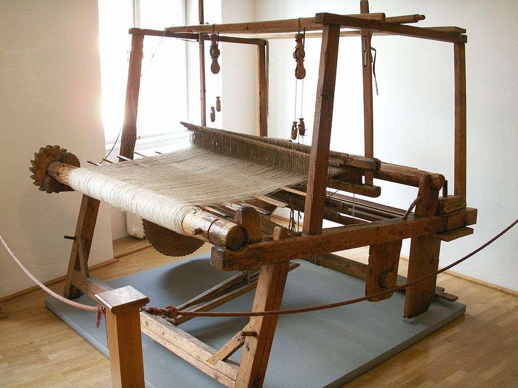 Métier à tisser mécanique. © Javier Carro, GNU 1.2