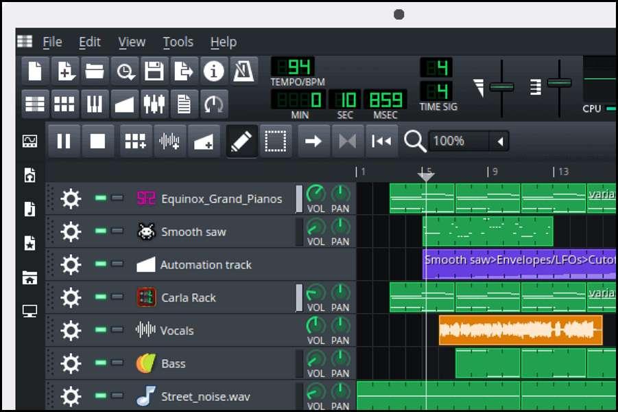 LMMS est un logiciel gratuit et libre de création musicale pouvant s'appuyer sur une forte communauté. © LMMS