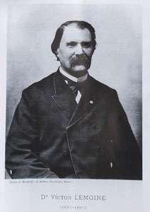 Victor Lemoine (1837-1897), médecin et paléontologue, qui décrivit divers restes de Gastornis trouvés aux environs de Reims. © DR