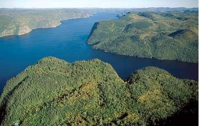 Figure 15 : Fjord du Saguenais, Québec.