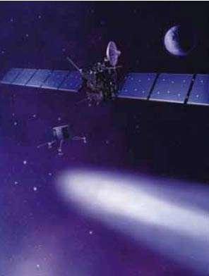 Vue d'artiste de la sonde Rosetta © ESA