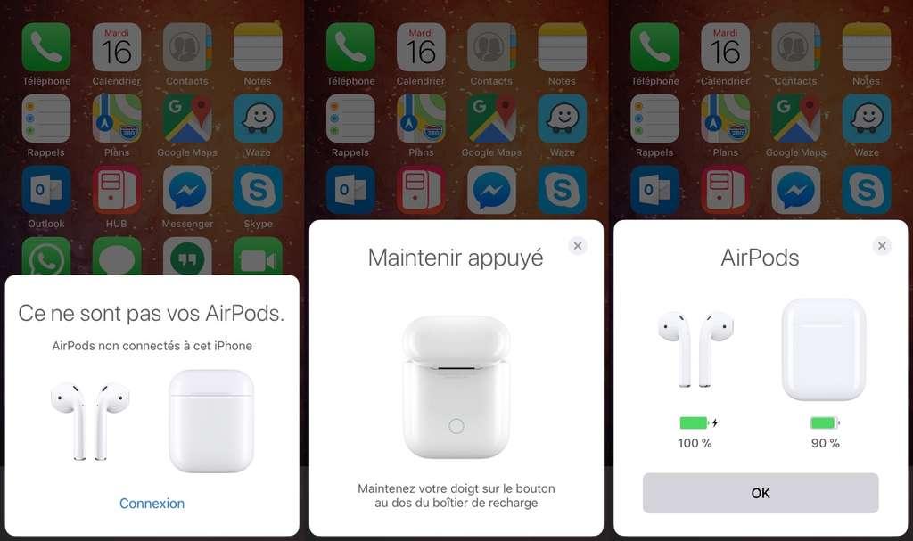 Pour utiliser les Airpods d'Apple, il faut commencer par les appairer. © Futura