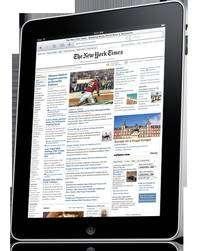 L'iPad d'Apple offre un bel écran bien affichant très bien les documents PDF mais aussi les vidéos. Il se présente comme un concurrent frontal des actuels lecteurs de livres électroniques. (Cliquer sur l'image pour l'agrandir.) © Apple