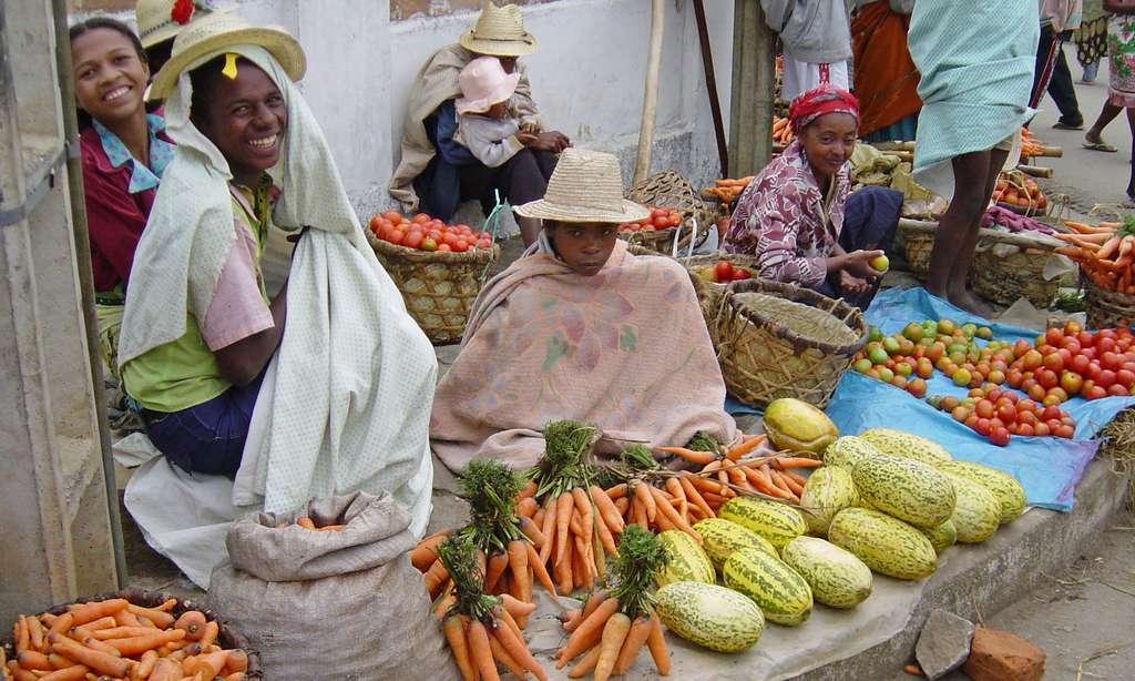 Scène du marché à Fianarantsoa