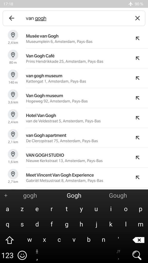 Fonctionnement de la recherche hors ligne. © Google Maps