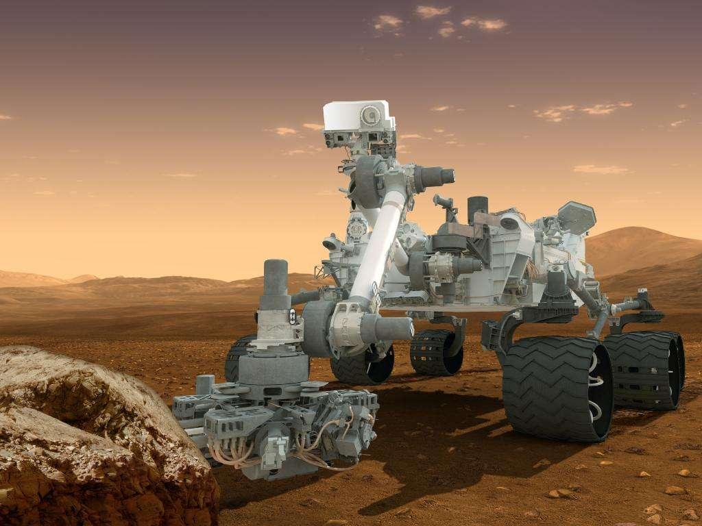 Le rover Curiosity est sorti du mode sans échec en fin de semaine passée et retrouve peu à peu ses esprits. Les origines de la panne de l'ordinateur principal restent à déterminer. © Nasa, JPL-Caltech, DP