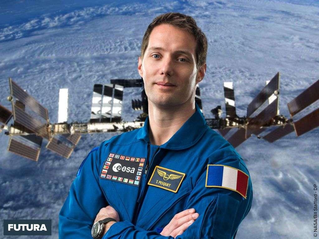 L'astronaute français Thomas Pesquet à bord de la Station spatiale internationale