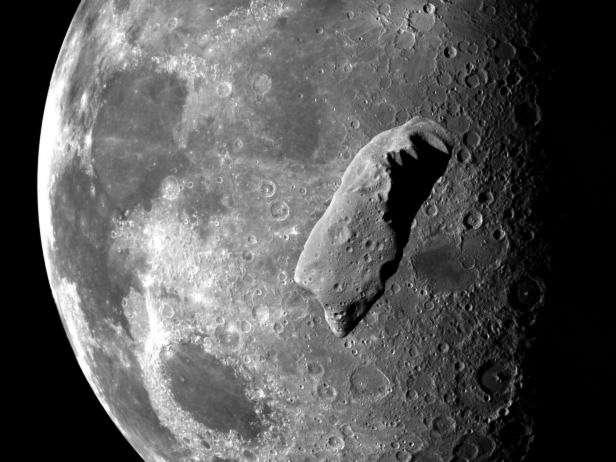 Étude scientifique, exploitation des ressources, tremplin vers Mars et protection de notre planète : la capture d'un astéroïde et son remorquage près de la Terre et de la Lune est intéressante à plus d'un titre. © Nasa